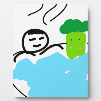 Cute Broccoli in Hot Springs Photo Plaques