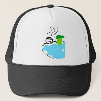 Cute Broccoli in Hot Springs Trucker Hat