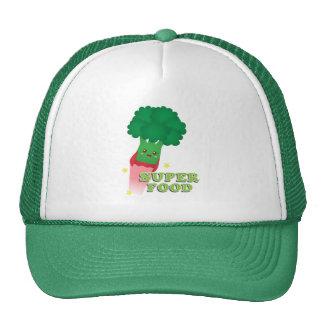 Cute Broccoli Vegetable, Super food Mesh Hats