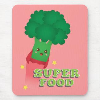 Cute Broccoli Vegetable, Super food Mouse Pad