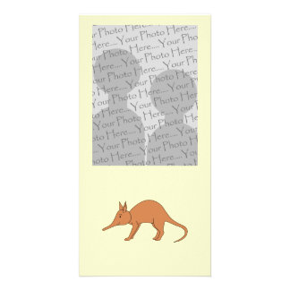 Cute Brown Aardvark Customized Photo Card
