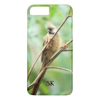 Cute Brown African Bird Animal Lover Monogram iPhone 7 Plus Case