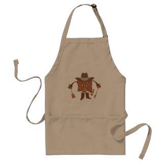 cute brown BBQ utensils Standard Apron