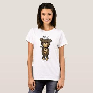 Cute Brown Bear Holding a Yellow Flower T-Shirt