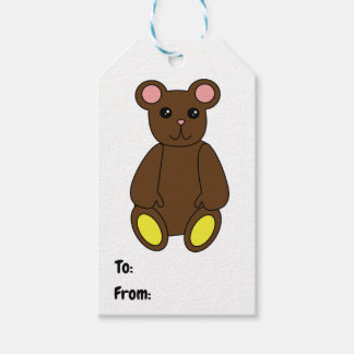 Cute Brown Bear Personalize Gift Tags
