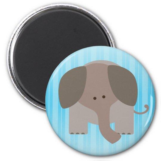Cute Brown Elephant Magnet