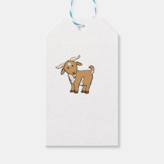 cute brown goat gift tags