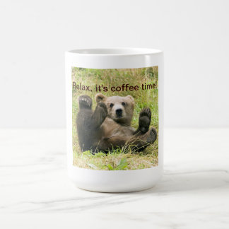 Cute brown grizzly bear cub beautiful photo custom coffee mug