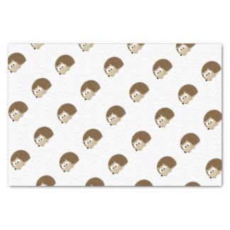 Cute Brown Hedgehog Tissue Paper