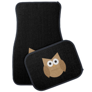 Cute Brown Owl Car Mat Set