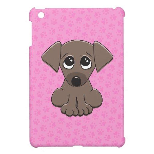 Cute brown puppy dog with big begging eyes iPad mini case