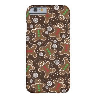 Cute Brown Red Green Christmas Gingerbreads Barely There iPhone 6 Case