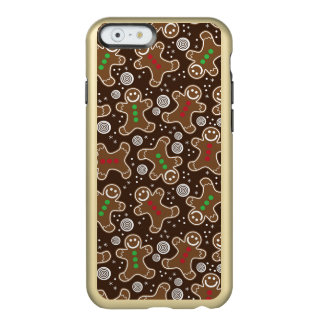 Cute Brown Red Green Christmas Gingerbreads Incipio Feather® Shine iPhone 6 Case