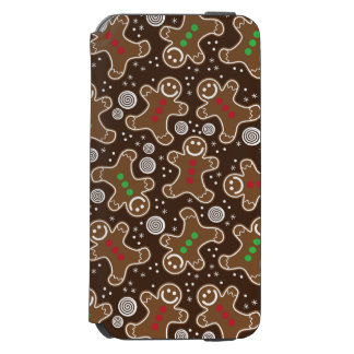 Cute Brown Red Green Christmas Gingerbreads Incipio Watson™ iPhone 6 Wallet Case