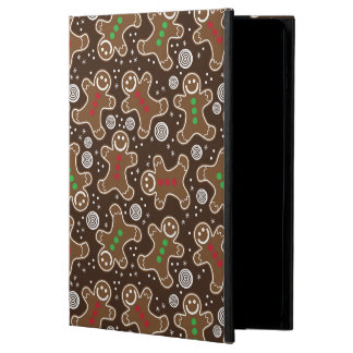 Cute Brown Red Green Christmas Gingerbreads iPad Air Case