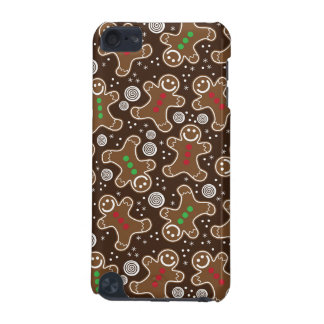 Cute Brown Red Green Christmas Gingerbreads iPod Touch (5th Generation) Case