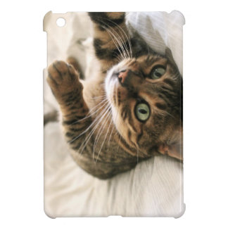 Cute Brown Spotted Bengal Cat Kitten Lying in Bed iPad Mini Cases