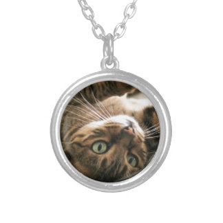 Cute Brown Spotted Bengal Cat Kitten Lying in Bed Pendant