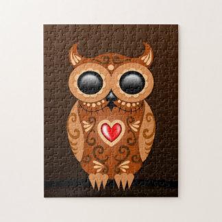 Cute Brown Sugar Owl Jigsaw Puzzle