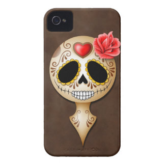 Cute Brown Sugar Skull Case-Mate iPhone 4 Case