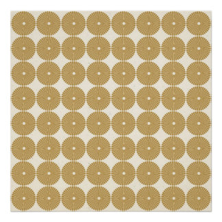 Cute Brown Tan Circles Disks Poker Chips Pattern Posters