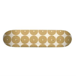 Cute Brown Tan Circles Disks Poker Chips Pattern Skate Board