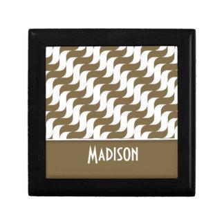 Cute Brown Wave; Retro Gift Box