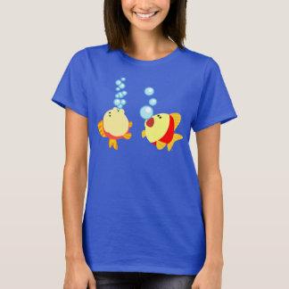 Cute Bubbling Cartoon Fish Women T-Shirt