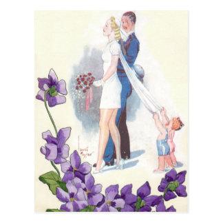 Cute Budget Wedding Invitations Postcard