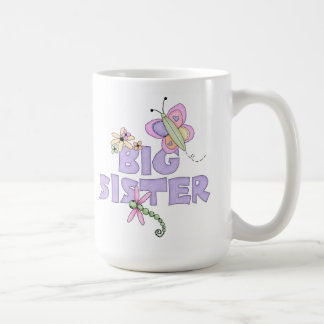 Cute Bugs Big Sister Basic White Mug