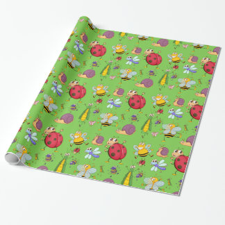 Cute Bugs Wrapping Paper