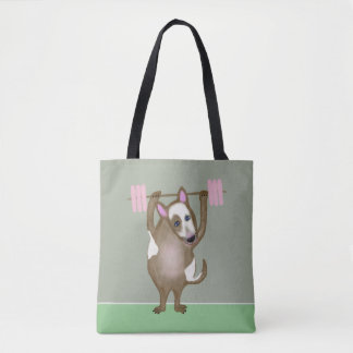 Cute Bull Terrier dog Tote Bag