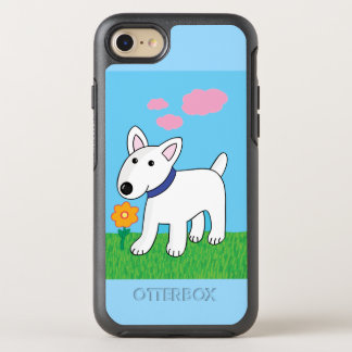 Cute Bull Terrier w Flower OtterBox iPhone 7 Case