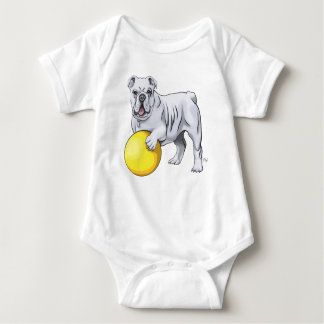 Cute Bulldog Baby Suit Baby Bodysuit