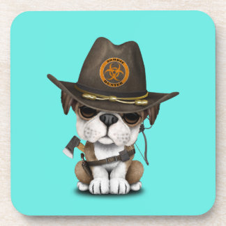 Cute Bulldog Puppy Zombie Hunter Coaster