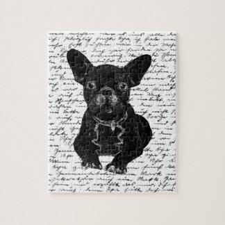 Cute bulldog puzzles