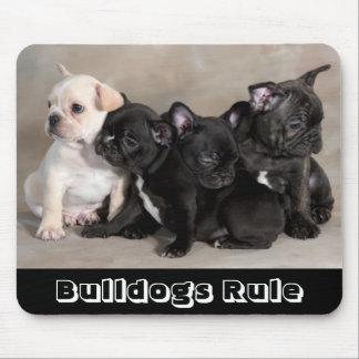 Cute Bulldogs Rule Puppy Dogs Mousepad