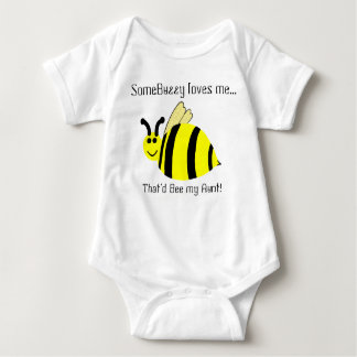 Cute Bumble Bee Aunt Loves Me Infant Shirt