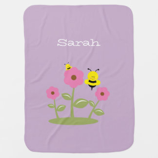 Cute Bumble Bee Baby Blanket