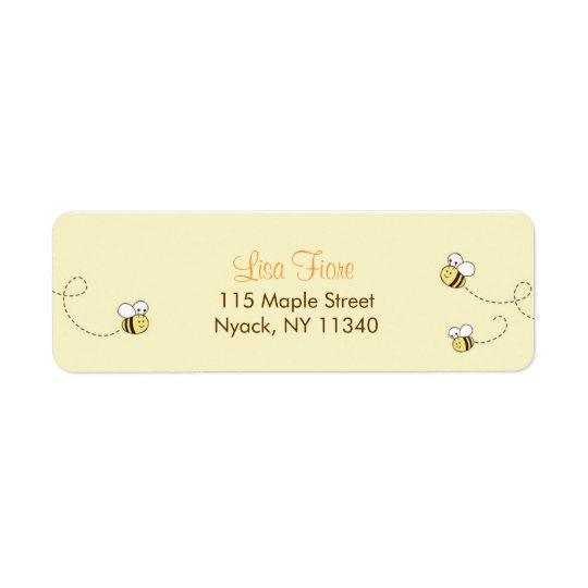 Cute Bumble Bee Baby Shower Address Labels