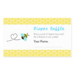 Cute Bumble Bee Baby Shower Diaper Raffle Tickets Business Card Templates