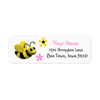 Cute Bumble Bee Baby Shower Return Address Label