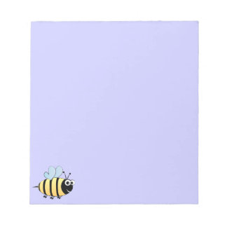 Cute bumble bee cartoon kids notepad