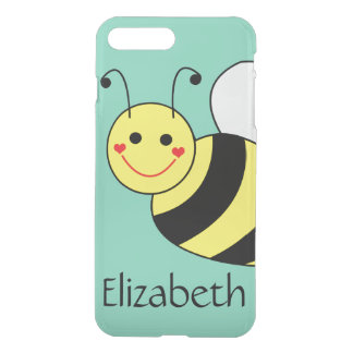 Cute Bumble Bee Personalised iPhone 8 Plus/7 Plus Case