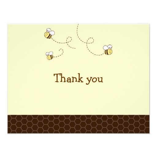 Cute Bumble Bee Thank You Note Cards Personalized Announcement