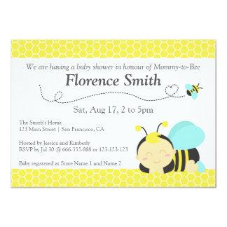 Cute Bumble Bee Theme, Boy Baby Shower 11 Cm X 16 Cm Invitation Card