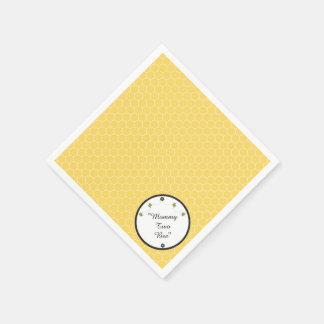 Cute Bumble Bees Honeycomb Pattern Napkins Disposable Serviettes