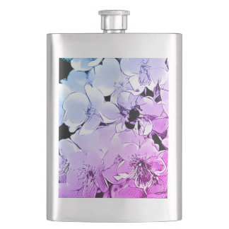 Cute Bumblebee & Roses 8oz Stainless Steel Flask