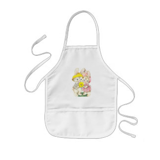 Cute bunnies kids apron
