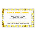 Cute Bunnies on Yellow Business Card